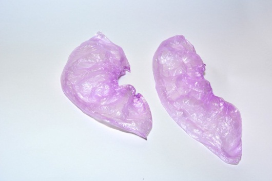 Бахилы полиэтиленовые розовые (3.6 гр.)