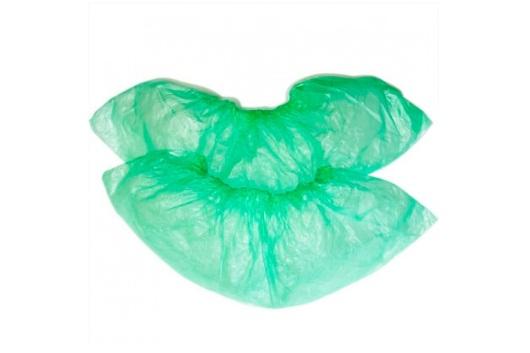 Бахилы полиэтиленовые зеленые (3.6 гр.)