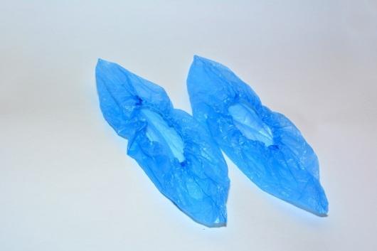 Бахилы полиэтиленовые Стандарт с двухрядной резинкой (3.5 гр.)