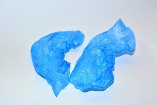 Бахилы полиэтиленовые с двухрядной резинкой (3.5 гр.)